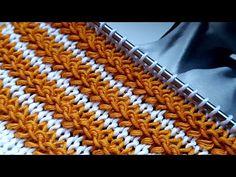 Besten stricken : Knitting pattern ❤ Узор спицами ❤ strickmuster ❤ tricot ❤ how to knit ❤ tricô ❤ örgü deseni बुनना Knitting Videos, Knitting Stitches, Knitting Needles, Baby Knitting, Knitting Patterns, Crochet Motifs, Crochet Art, Crochet Crafts, Cardigan Design