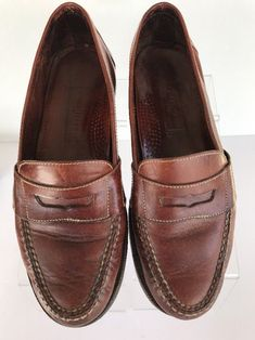 Cole Haan Brown Penny Loafer Mens Shoes Leather Size 9.5 Made in Italy