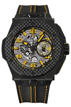 Limited Edition Big Bang Ferrari Black/Yellow 45mm