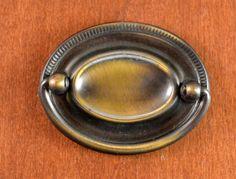 Vintage Keeler Brass Oval Hepplewhite by SalvageArtsCreations