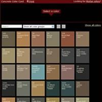 Stamped concrete color chart offered by Davis Colors features a variety of integral color options for new concrete. Acid Etching Concrete, Stained Concrete, Stamped Concrete Colors, Concrete Finishes, Concrete Bathroom, Bathroom Flooring, Olive Green Bathrooms, Green Bathroom Decor, Patio Images