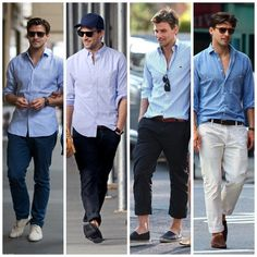 Love every combo. Spring/summer men's style.