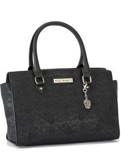 "Women's ""Sugar Skull"" GG Rose Handbag by Rock Rebel (Black)  By Rock Rebel 
