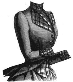 1887 Plain  Plaid Wool Jacket Pattern
