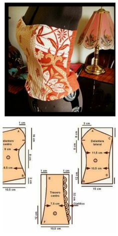 Corset pattern but maybe the base for topless gown.
