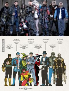 Just a helpful comic book reader's guide to Suicide Squad
