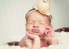 newborn pouty lips