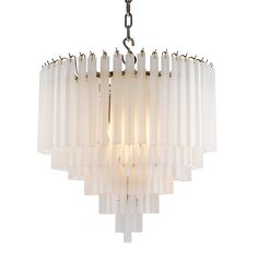 Elegant frosted glass chandelier. This fabulous chandelier is the perfect addition to elevate your interior in style.