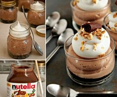 Nutella No Bake Cheesecakes
