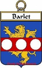 Barlet French Coat of Arms Print Family History Crest