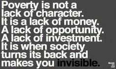 Poverty....