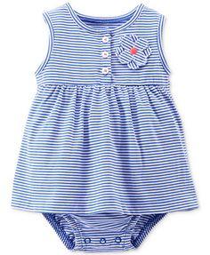 Carter's Baby Girls' Striped Bodysuit Dress