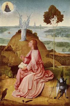 """Saint John the Evangelist on Patmos"" by Hieronymus Bosch"