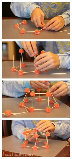 Building with candy Science Activity | I love this STEM activity for fall or halloween!