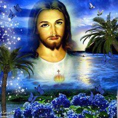 Cross Pictures, Pictures Of Jesus Christ, Angel Pictures, Jesus Faith, God Jesus, Jesus Christ Painting, Archangel Prayers, Jesus More, Jesus E Maria