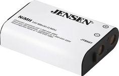Jensen - 800 mAh NiMH Cordless Phone Battery - Gray, ER-P507
