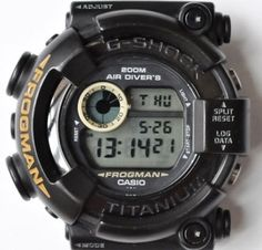 Casio G-Shock DW-8200BM-1T Frogman Men in Black /Near Mint 1998 RaRe!! #Casio #Sport