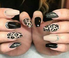 Maybe gel or acrylic cheetah nails, nude nails, tiger nails, glam nails, st Cheetah Nail Designs, Acrylic Nail Designs, Nail Art Designs, Acrylic Nails, Glam Nails, Bling Nails, Cute Nails, Diy Nails, Manicure Ideas