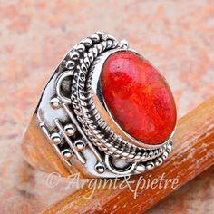 coral spongios Gemstone Rings, Coral, Gemstones, Jewelry, Fashion, Moda, Jewlery, Gems, Jewerly