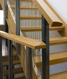 Accessible LEED Residence Stair Detail modern hall