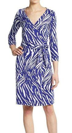 DVF Diane Von Furstenberg Julian Jersey Wrap Dress Exotic Tiger Printed NEW #DVF #WrapDress