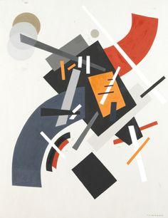 Nadia CHODASIEWICZ-LEGER (1904-1982) Mouvement de forme dans l'espace sur un fond blanc Huile sur toile Sold 7 600€ with Artprecium #artauction