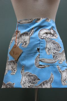 Vintage 1960's Kitty apron by Fruition, Newport RI