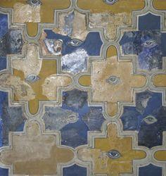 Scherventableau Renaissance oogtegels uit paleis