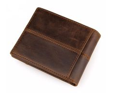 Beautifully stitched, fold out, genuine leather wallet. Visit tungstenandcarbide.com for more fine wares.