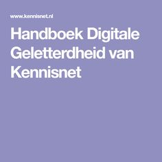 Handboek Digitale Geletterdheid van Kennisnet
