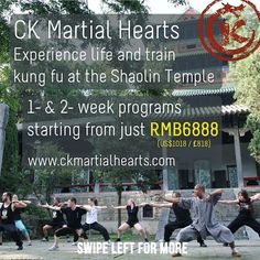 Join us in May and September 2017 to train #kungfu at the #Shaolin Temple in #China!