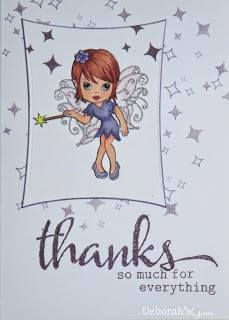 Thanks - photo by Deborah Frings - Deborah's Gems Main Page, Fairy, Thankful, Stamp, Cas, Projects, Fictional Characters, Sweet, Girls