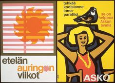 Etelän auringon viikot, tehkää kodistanne loma-paratiisi. Se on helppoa Asko avulla - Askon vanha mainos Movie Posters, Movies, Art, Art Background, Films, Film Poster, Kunst, Cinema, Movie