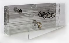 SORA Watch Display Case, back-panel: reflective