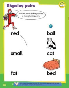 My Second Phonics Activity Book Phonics Activities, Book Activities, Rhyming Pairs, Writing Skills, Learn To Read, Learning, Words, School, Fun