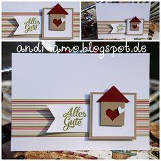 Schnelle Karte zum Einzug. Materialangaben auf: www.andi-amo.blogspot.de #Stampin Up Karten #Zum Einzug #Karte zum Einzug