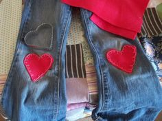 DIY patching kids jeans