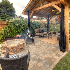 fire pit   Covered outdoor pavilion, covered structure, fire pit ...