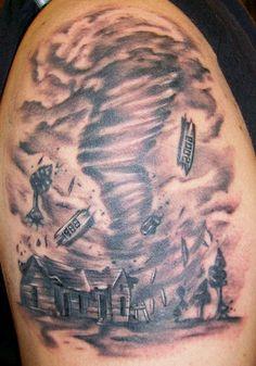 What is tattoo Tueday about? Tornado Tattoo, Storm Tattoo, I Tattoo, Tattoo Drawings, Hair Tattoos, Sleeve Tattoos, Half Sleeve Tattoo Stencils, Wizard Of Oz Tattoos, Black Art Tattoo