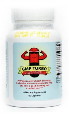 Good Morning Pill Turbo – Extra Strength Energy Vitamin Supplement (200mg Caffeine + Vitamins) (60 Capsules)