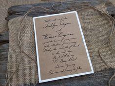Rustic Wedding Invitation,Burlap Wedding Invitation,Rustic Elegant Wedding Invitation,Vintage Wedding Invitation,Rustic Chic Wedding Invitat by CCPrintsbyTabitha on Etsy https://www.etsy.com/listing/264664382/rustic-wedding-invitationburlap-wedding
