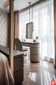 Cosmopolitan apartment - High ■ Exclusive living and garden inspiration. Dressing Table Design, Interior Design, Modern Bedroom Design, Bedroom Interior, Interior Design Living Room, Interior, Furniture Rehab, Woman Bedroom, Dressing Room Design