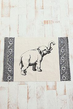 Tapis motif éléphant 2x3