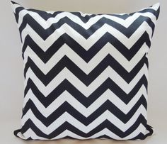 OUTDOOR Pillow Cover Black and White  Zig Zag by HomeLiving