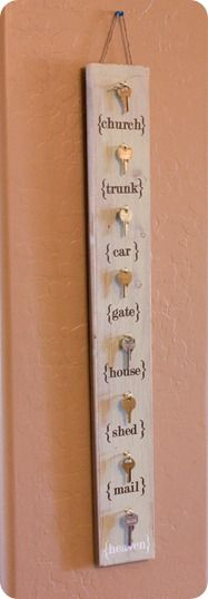Sweet DIY wall hanging with keys // a place for us