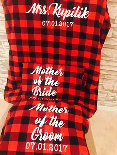 Wedding/ Bride Flannels / Bridesmaid Flannel / Buffalo Plaid/ wedding shirts / bachelorette
