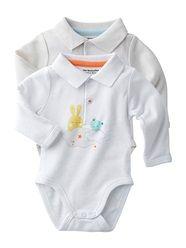 2er-Pack Jungen-Bodys, Neugeborene, Langarm