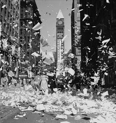 Victory in Europe Day (VE Day) celebrations in Toronto, Canada, May 1945.