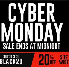 Last day to take 20% off with code BLACK20