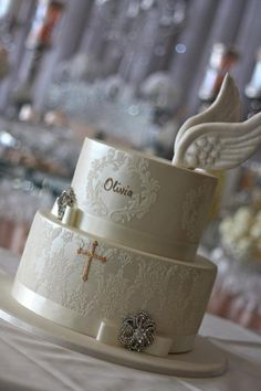 Angel Wing Communion Cake